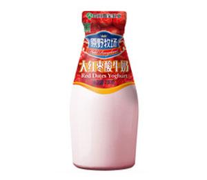 雪宝玻瓶大红枣酸牛奶