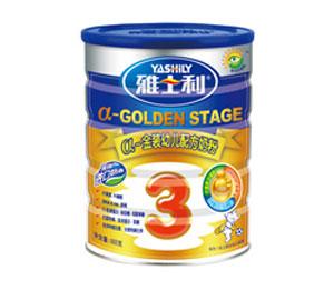 雅士利a金装罐装幼儿配方奶粉3段