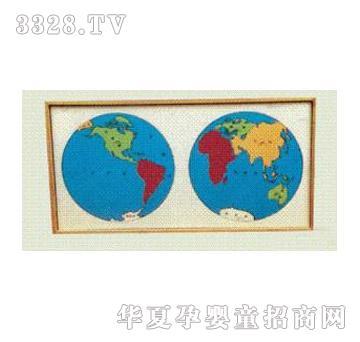 凯乐科教世界洲际地图嵌板