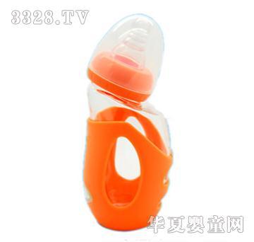 E童140ml企鹅宝宝玻璃奶瓶