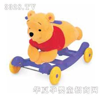 尼维尼熊2合1学步摇摇架火爆招商加盟中 东莞童梦园玩具有限公司